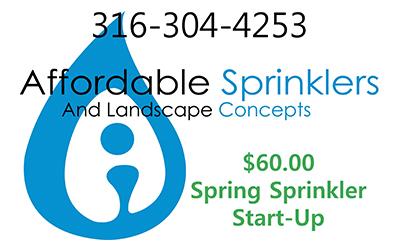 $60.00 Spring Sprinkler Startups - Sprinkler Installation and Landscape Concepts - Andover, Kansas