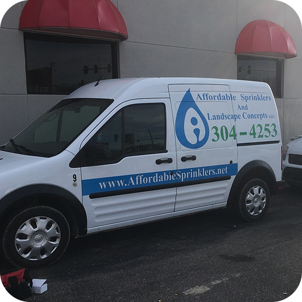 Affordable Sprinkler Company Van - Contact Affordable Sprinklers - Andover, Kansas